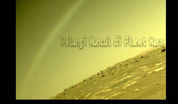 Pelangi Muncul di Planet Mars